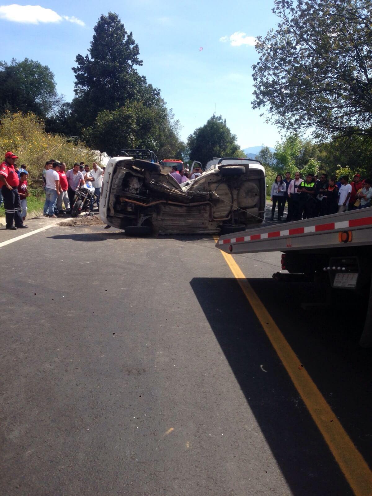Deja dos muertos choque en autopista Tenango-Ixtapan de la Sal