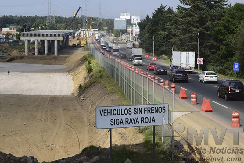 Cerrarán carril de baja velocidad de la México-Toluca