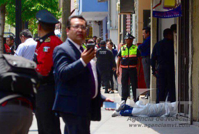 Muere asaltante en centro de Toluca