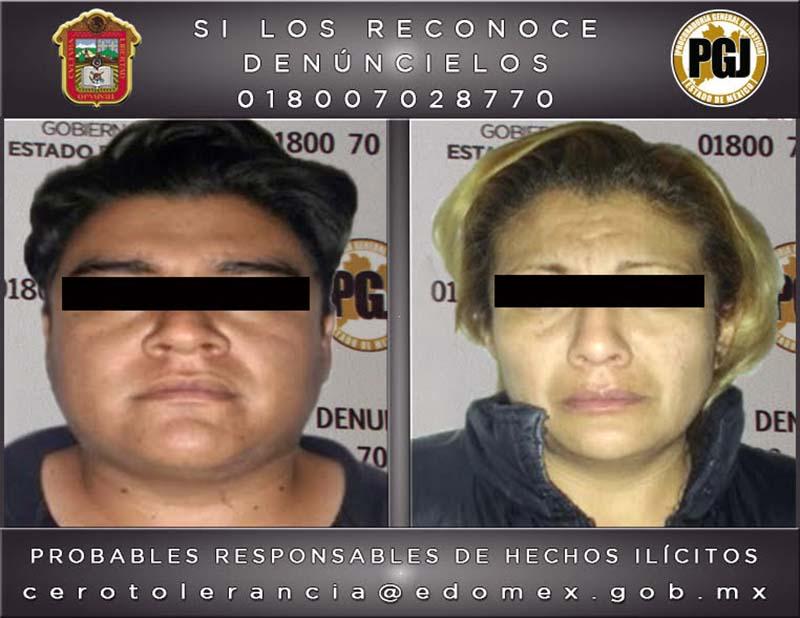 Vinculan a proceso penal a pareja de presuntos secuestradores de Chalco