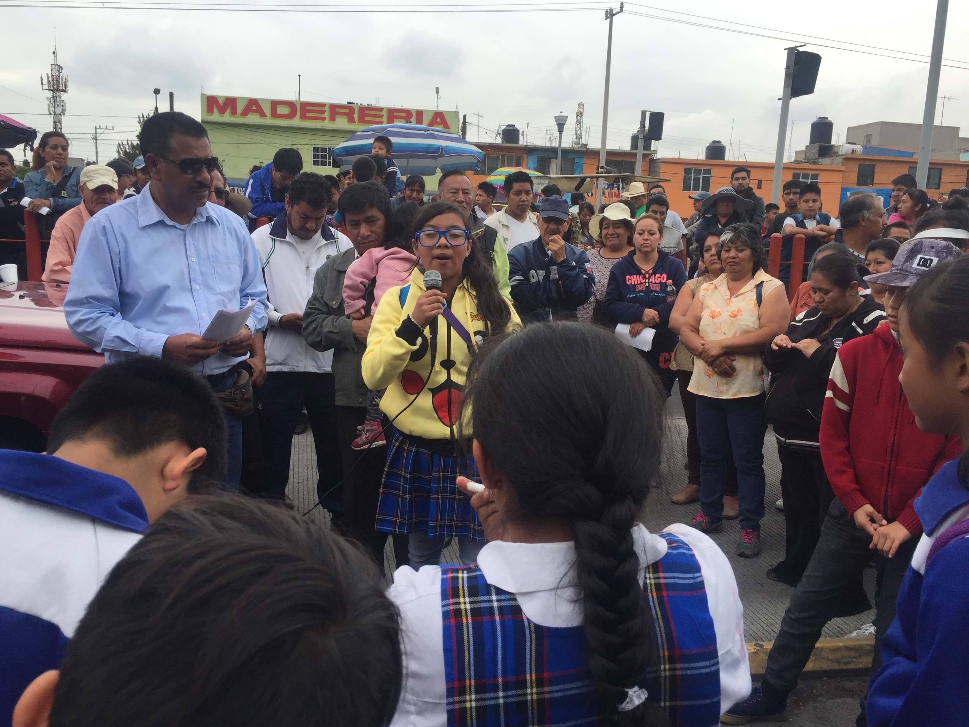 Suspenden servicio de Mexibús por manifestación a favor de la CNTE en Chimalhuacán
