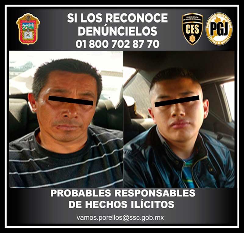 Atrapan hombres armados en boulevard Aeropuerto, Toluca