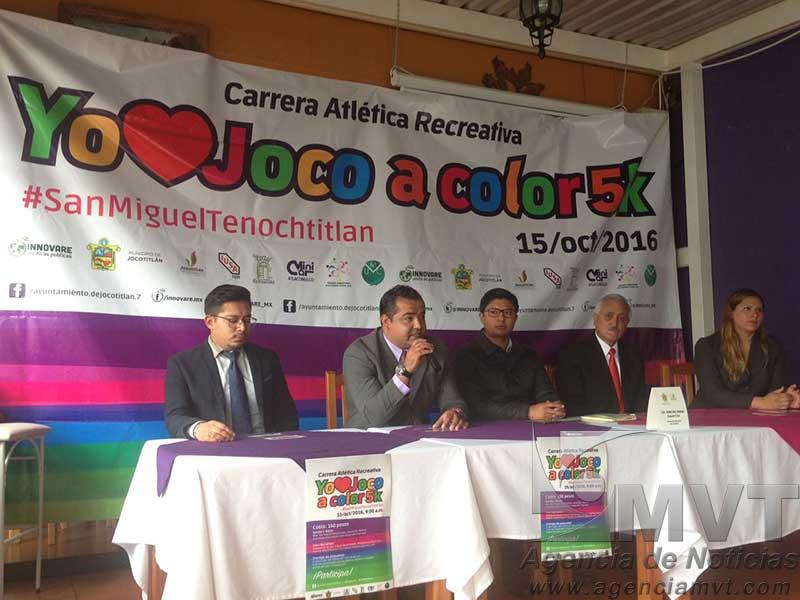 Anuncian Carrera de Colores en Jocotitlán