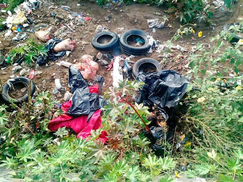 Localizan restos humanos en basurero clandestino de La Paz