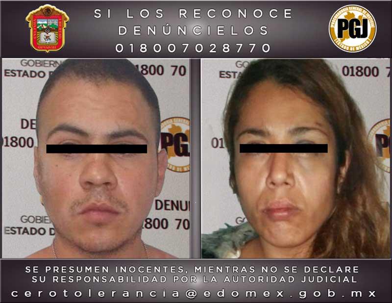 Capturan en Ecatepec a mujer y hombre dedicados al secuestro