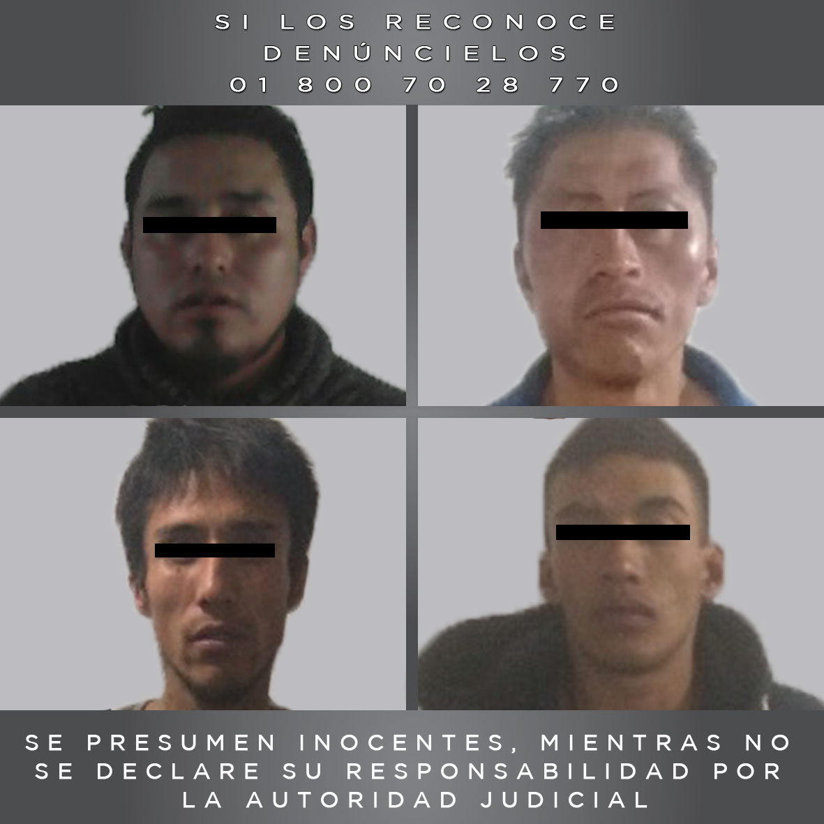 Procesan penalmente a cuatro detenidos en Valle de Toluca