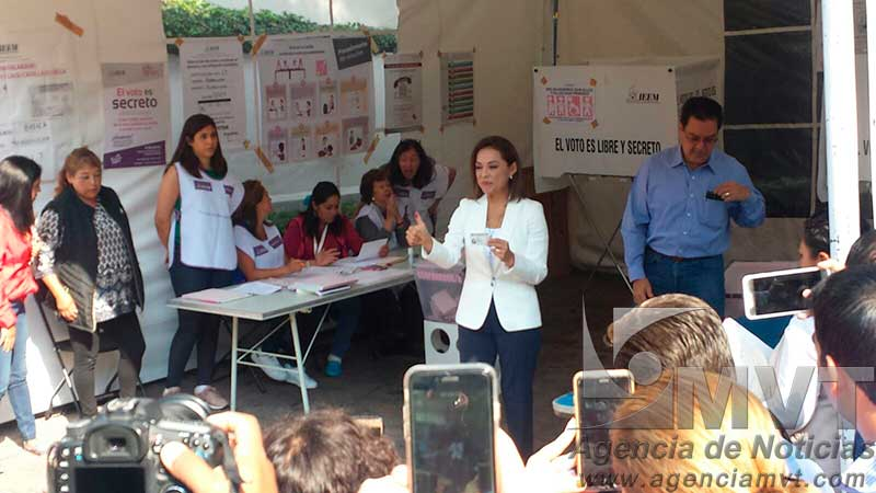 Invita Josefina a los mexiquenses a votar