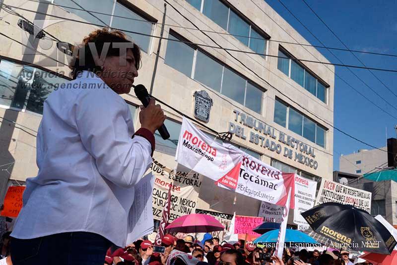 Exige Delfina Gómez respeto a la voluntad ciudadana
