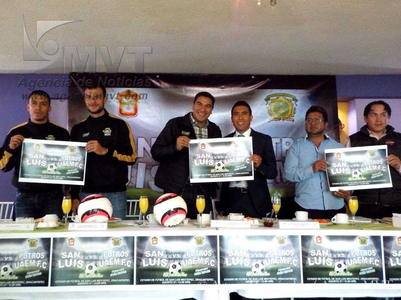 Inaugurarán estadio en San Luis Mextepec, Zinacantepec, con presencia de Potros UAEM