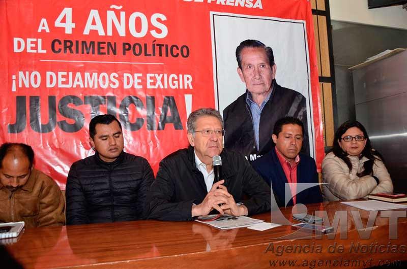 Exige Antorcha Campesina reabrir investigación sobre asesinato de Manuel Vallejo