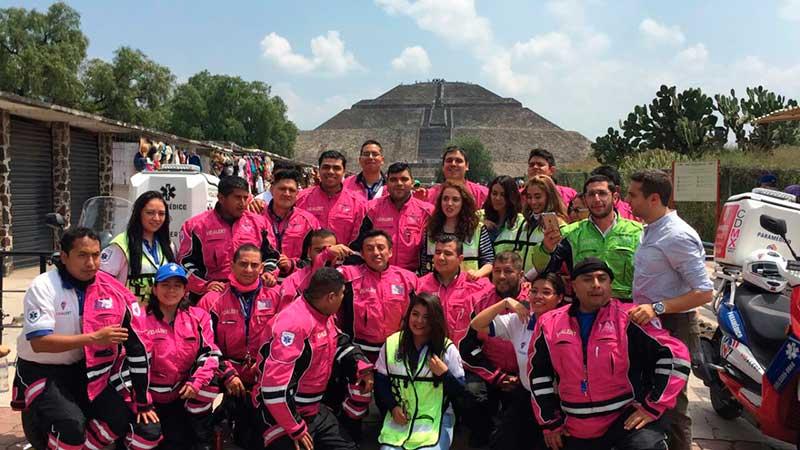 Agradecen rescatistas desde Teotihuacán solidaridad internacional ante el sismo