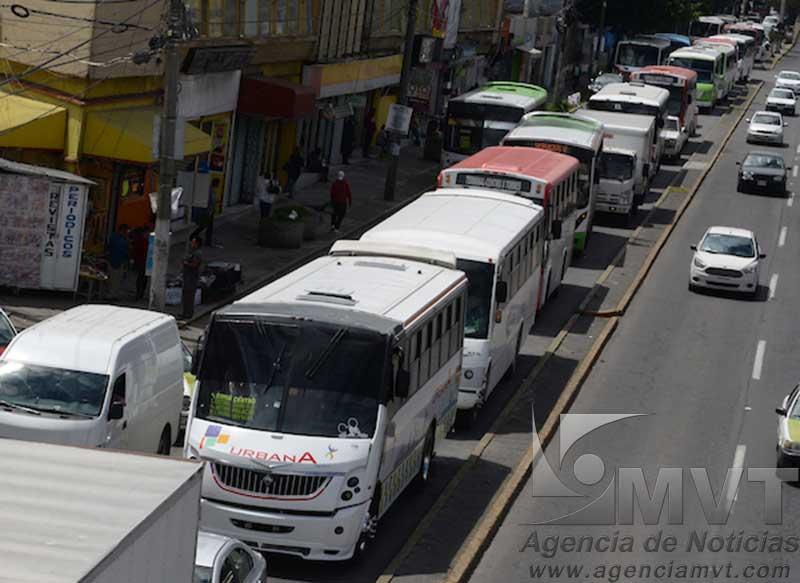¿Cuáles son las zonas de Toluca más inseguras a bordo del transporte público?