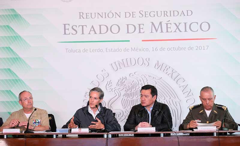 Revisa Osorio Chong qué pasa con la seguridad del Estado de México