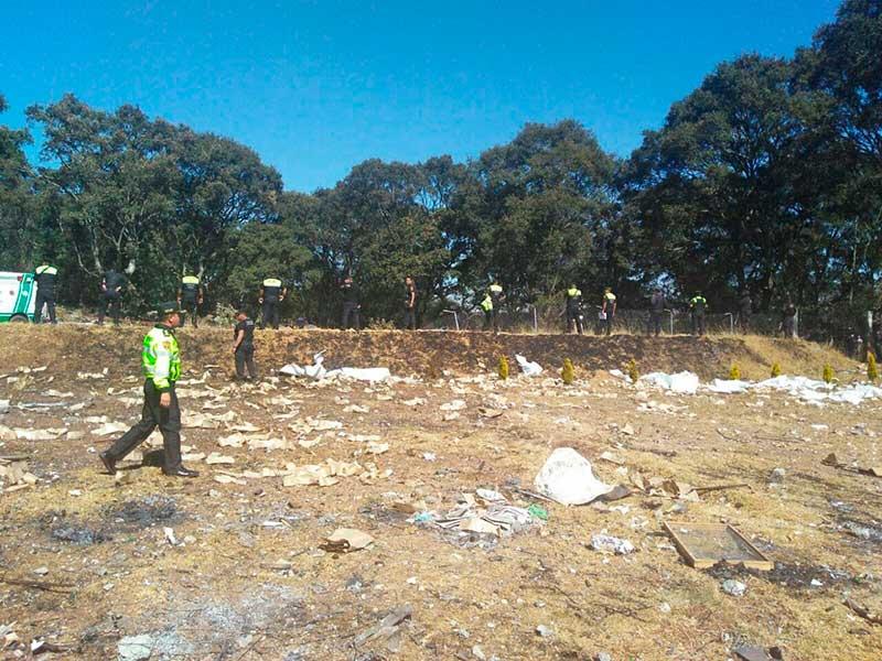 Deja cuatro muertos explosión de pirotecnia en Jilotepec