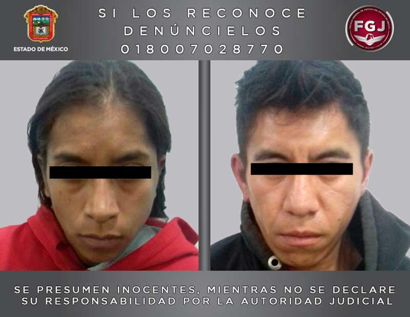 Aseguran hombre y mujer presuntamente involucrados en feminicidio en contra de menor de 4 años en Nezahualcóyotl
