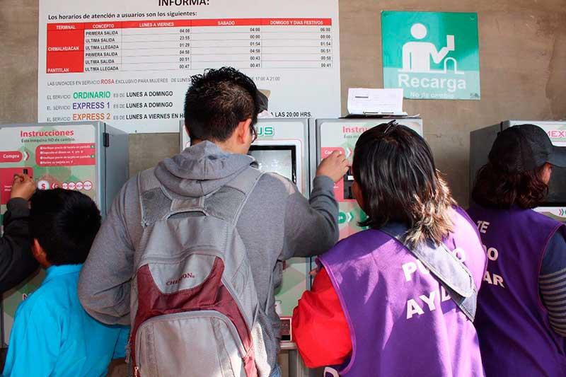 Casi vence plazo para cambiar tarjetas de prepago del Mexibús y Mexicable
