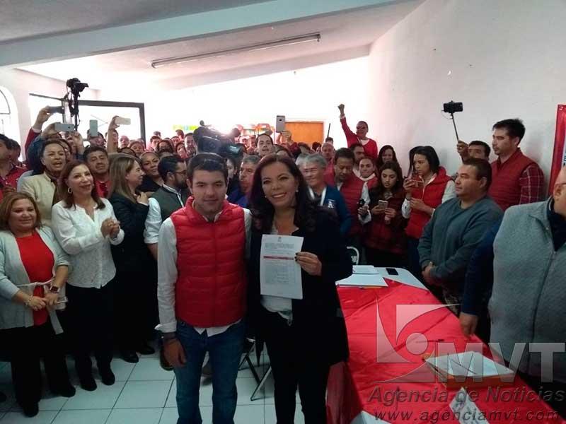 Muestra unidad el priismo de Metepec en torno a candidatura de Carolina Monroy a la presidencia municipal