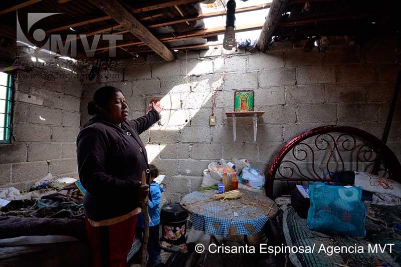 """Como Dios les dio a entender"" enfrentaron en Rancho Alegre el tornado"