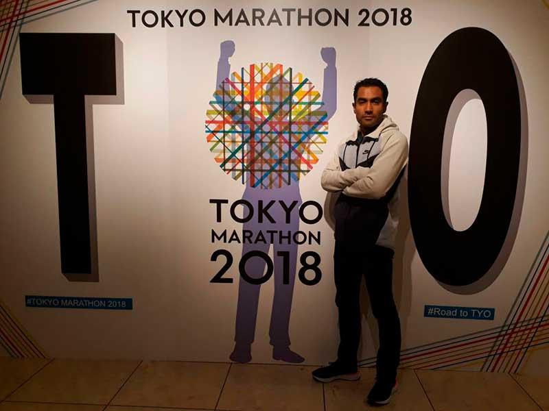 Juan Luis Barrios, atleta de la UAEM, número 21 de Maratón de Tokio