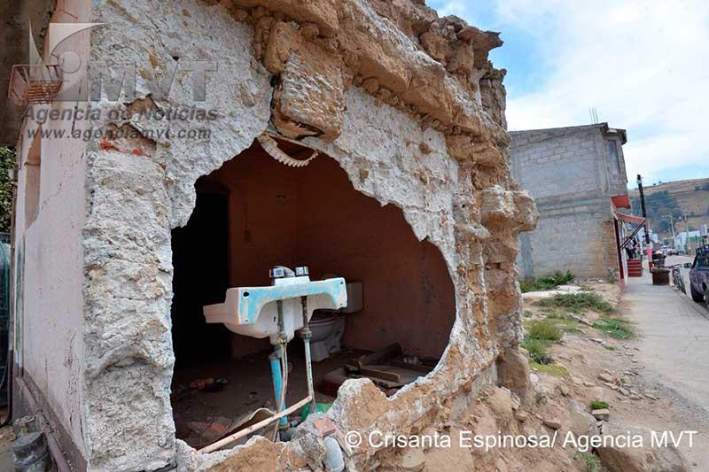 Asuntos electorales tienen suspendida la reconstrucción en Joquicingo, tras el sismo del 19 de Septiembre