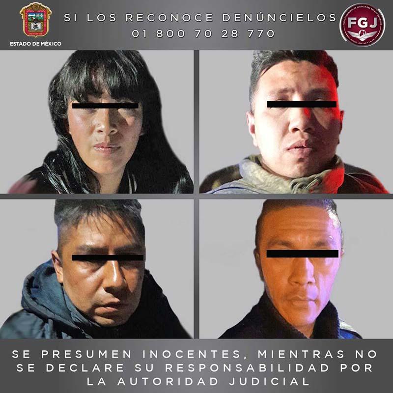 Detienen a 4 personas por extorsionar a locatarios de un mercado en el municipio de La Paz