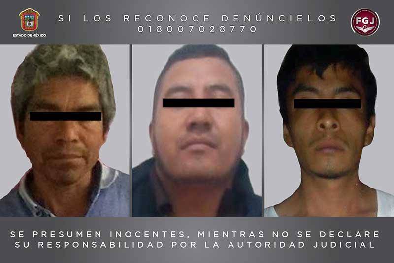 Aseguran en Valle de Bravo a tres hombres por diversos delitos