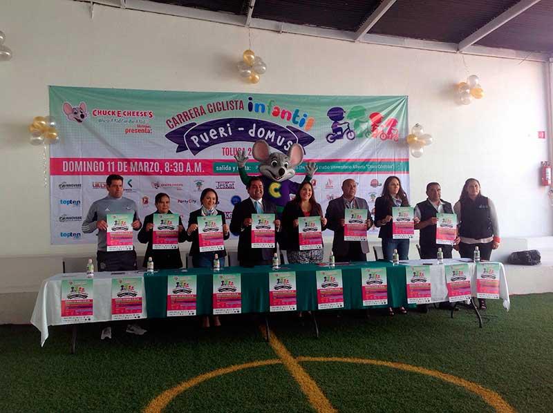 Convocan a carrera ciclista infantil en Toluca