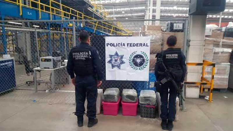 Interceptan marihuana enviada por empresa de paquetería en Edomex