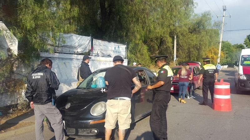 Detienen autoridades estatales y federales a 60 personas en operativo en Cuautitlán Izacalli