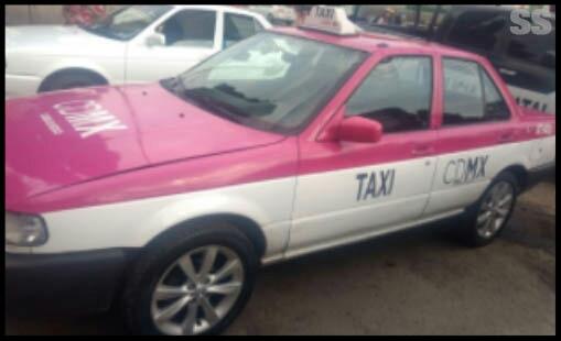 Recuperan en Tlalnepantla taxi robado en la Ciudad de México