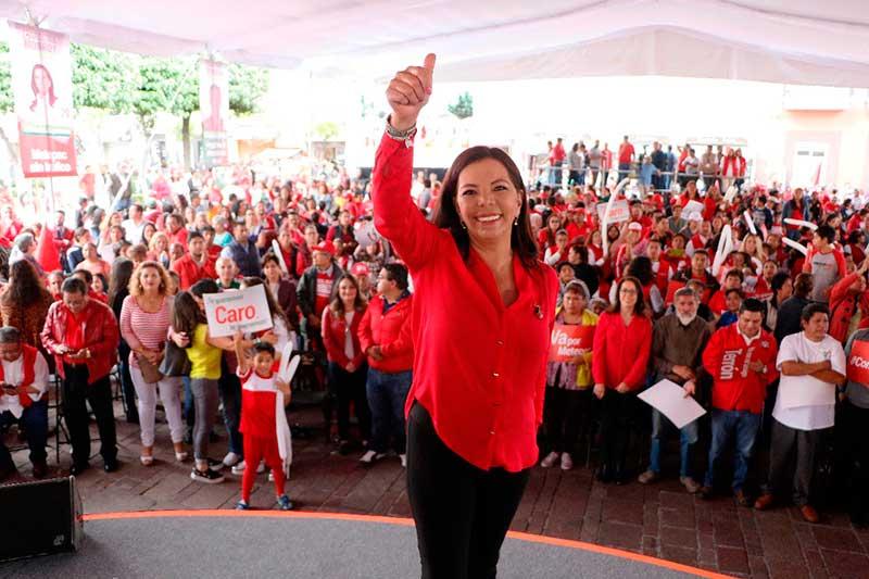 Llama Carolina Monroy a la decencia política y advierte que ganará con la ley en la mano