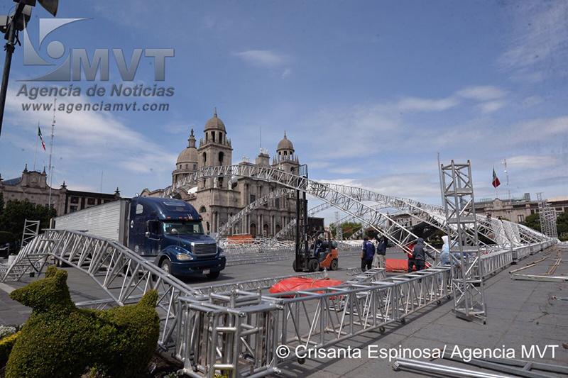 Montan estructura en Toluca para mitin de José Antonio Meade