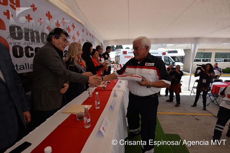 Reconocen labor de voluntarios de Cruz Roja celebrando el Día del Socorrista