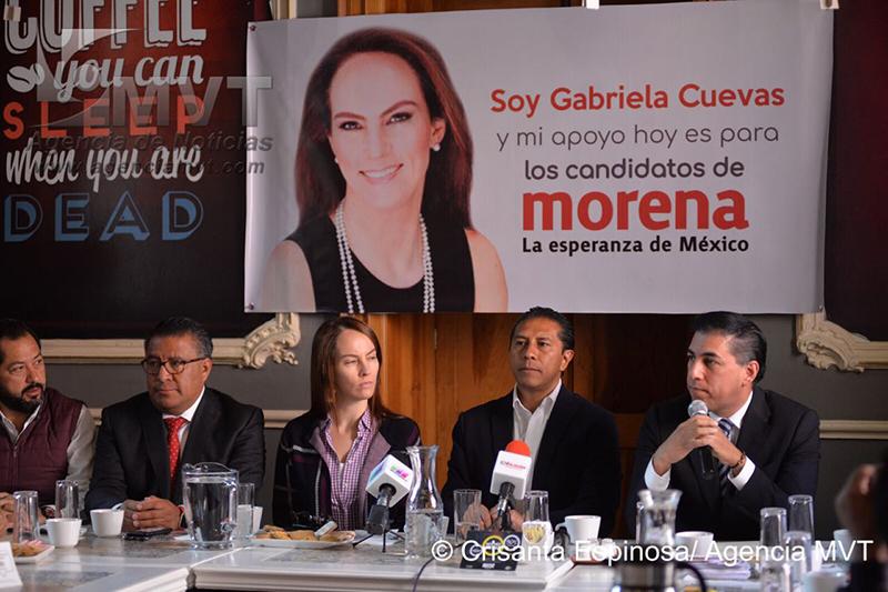 Apoya Gabriela Cuevas campaña de Juan Rodolfo Sánchez Gómez