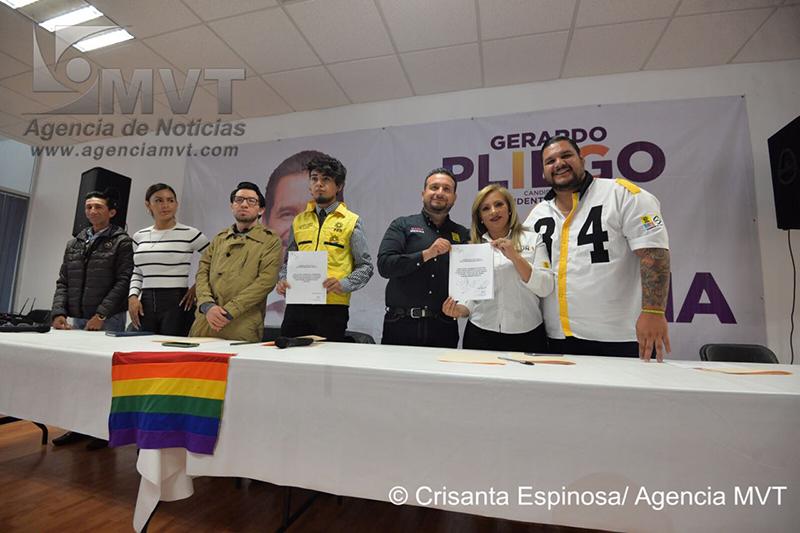 Firman candidatos del Frente agenda pro LGBTTTI