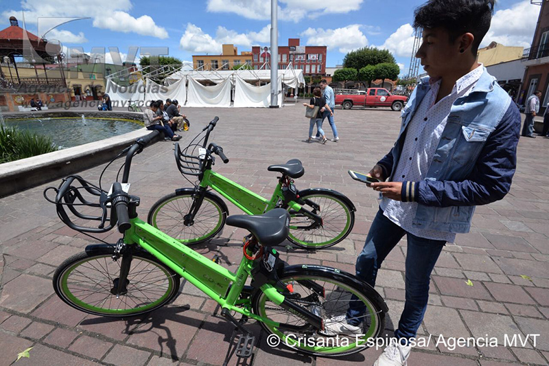 Estrena Metepec programa piloto de bicicleta compartida