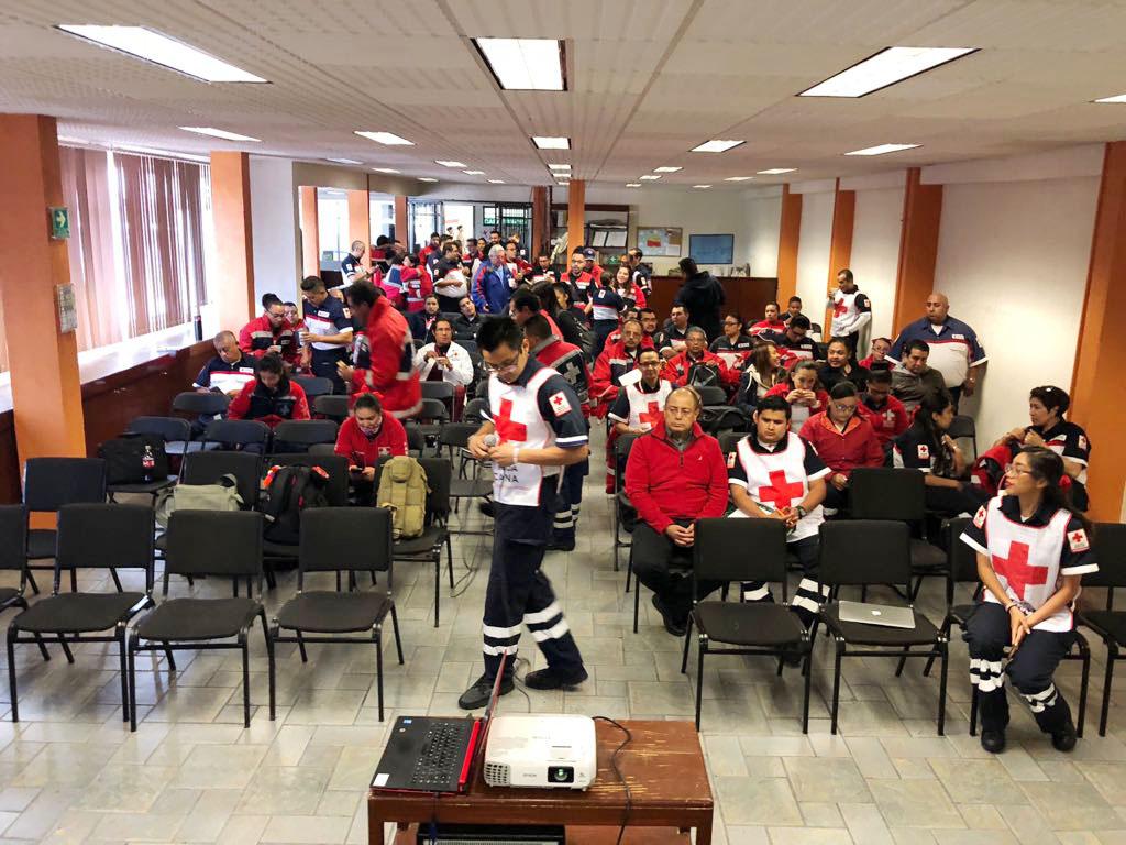 Actualizan capacitación de delegaciones de la Cruz Roja mexiquense