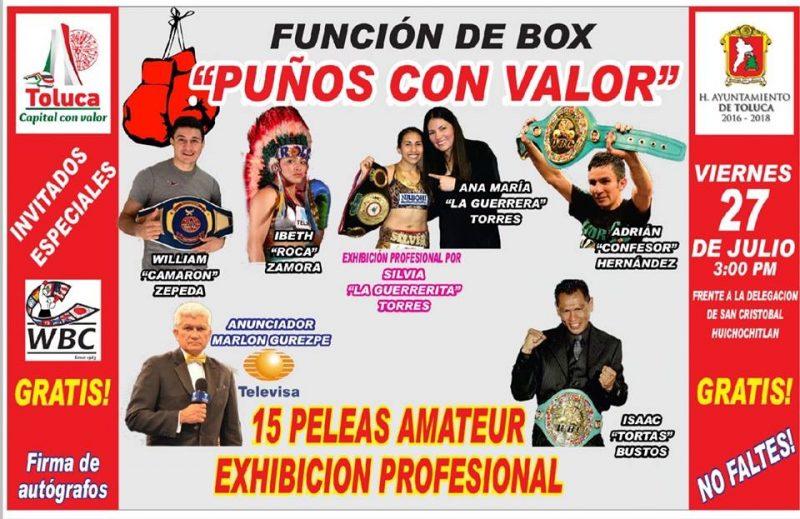"""Invita Toluca a la función de boxeo """"Puños con Valor"""""""