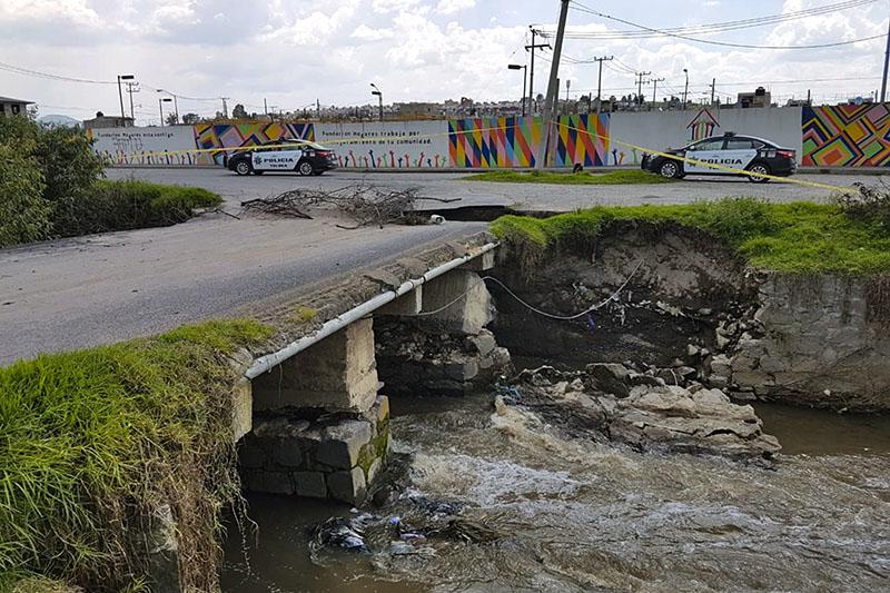 En riesgo de colapso, puente en San Diego Linares