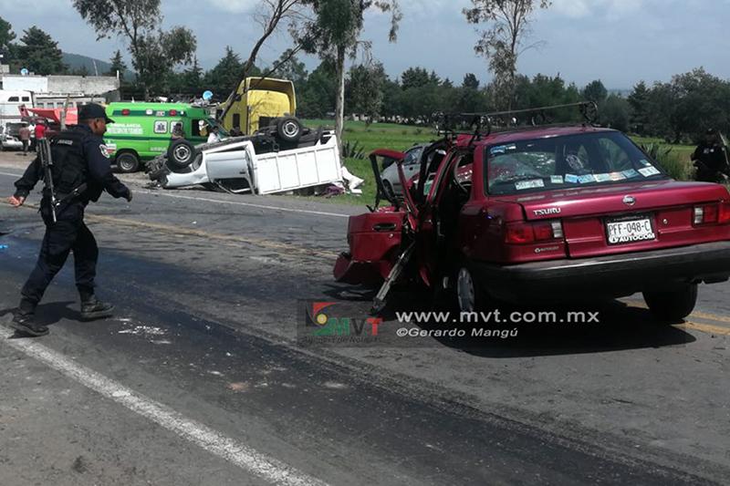 Muere conductor debido a impacto frontal en la Toluca-Villa Victoria