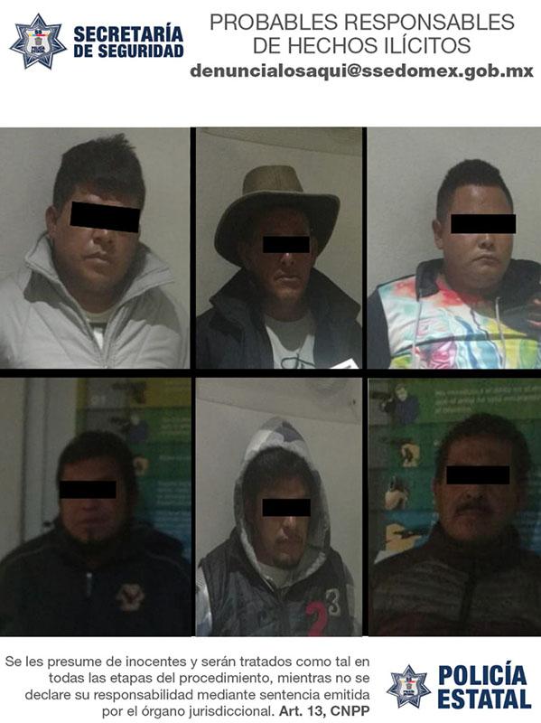 Asalto, persecución y fuego cruzado en Metepec; 6 detenidos