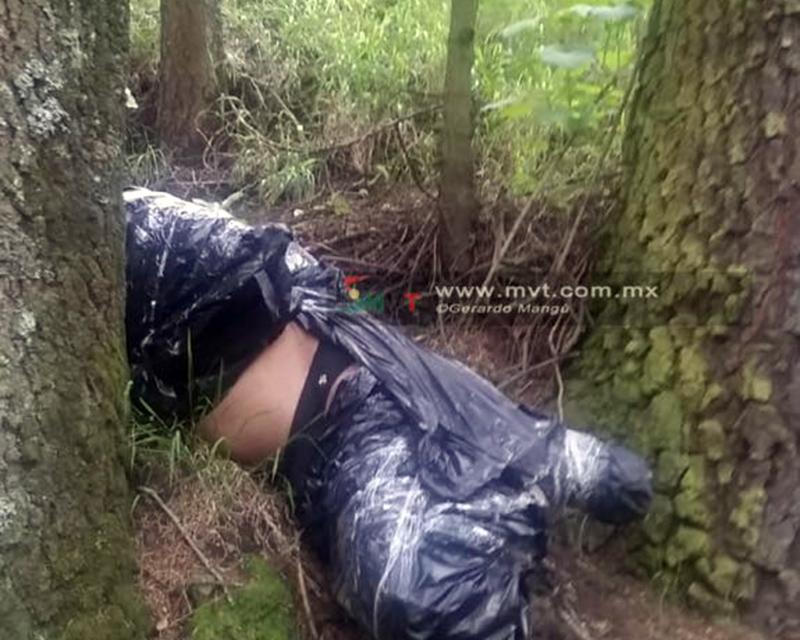 Encuentran cuerpo embolsado en faldas del Nevado de Toluca