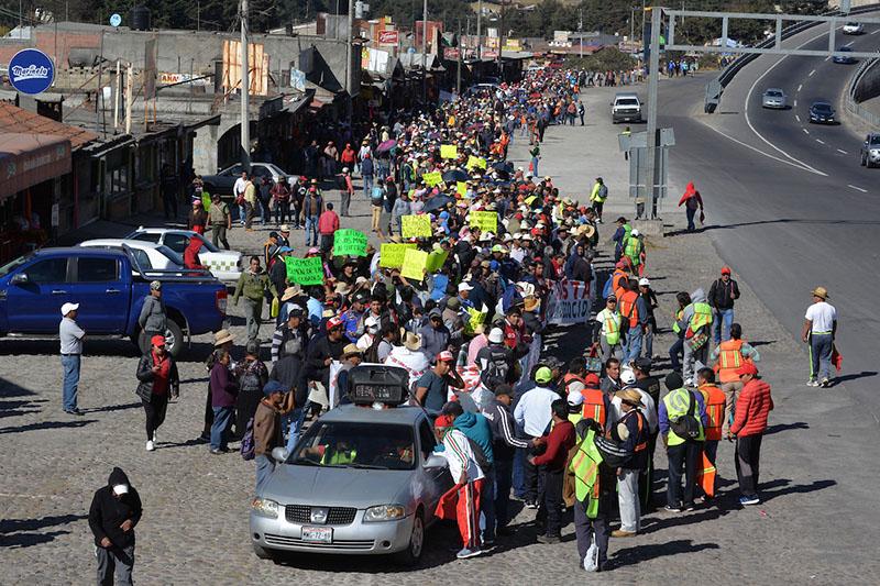 Prevén comuneros de Ocoyoacac movilización a Cdmx para protestar por el Tren Interurbano