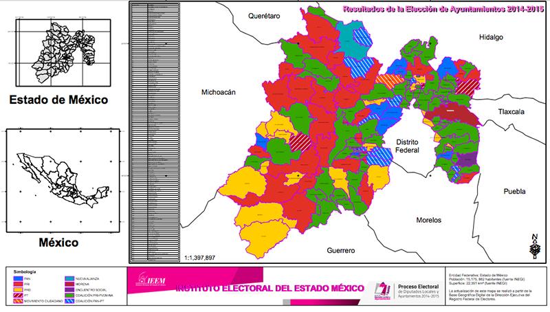 Perdió el PRI 60 alcaldías mexiquenses; Morena quintuplicó sus votos en tres años