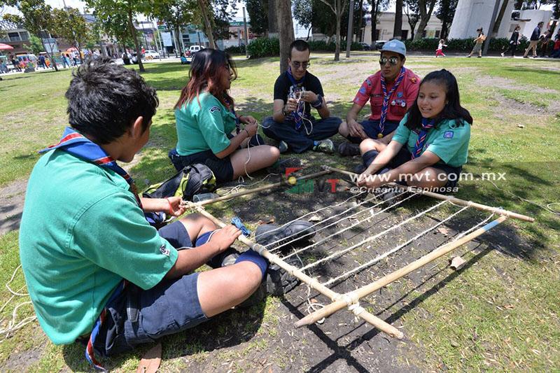 Culmina verano scout con evento en la Alameda