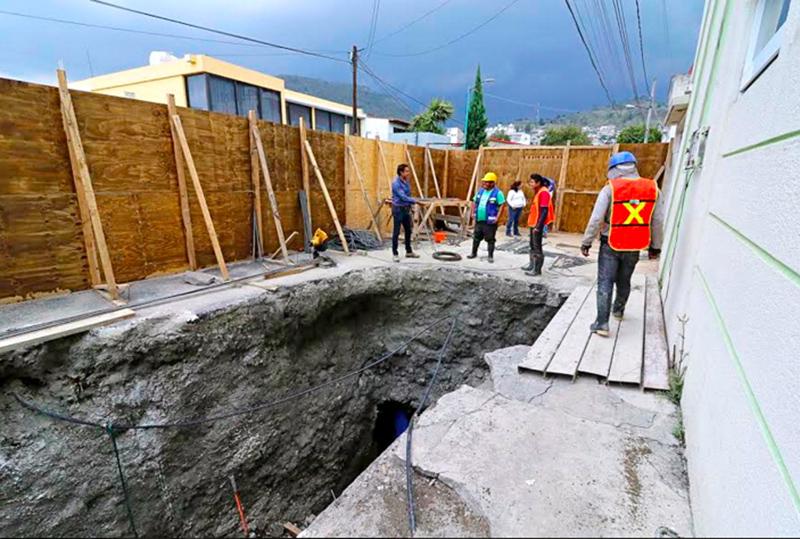 Suman más de 40 días de labores para arreglar socavón de Colonia San Bernardino