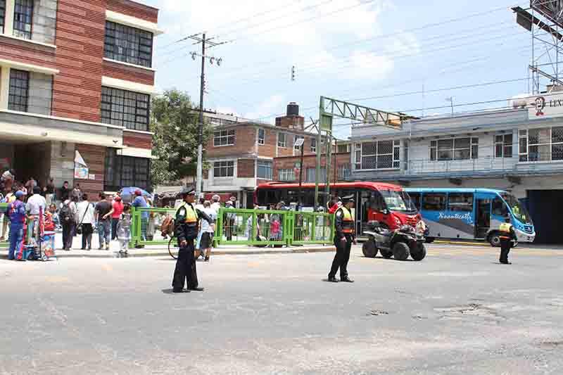 Listo el operativo de regreso a clases en Toluca