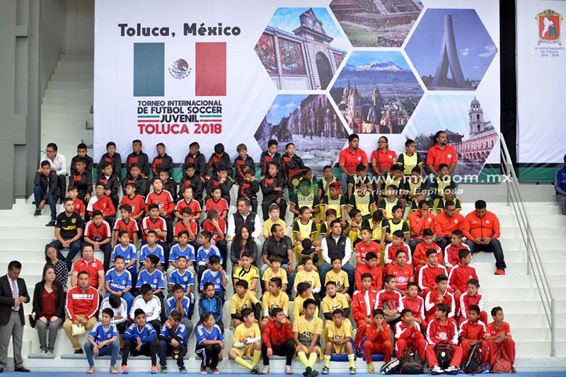 Inauguran Torneo Internacional de Futbol Juvenil Toluca 2018