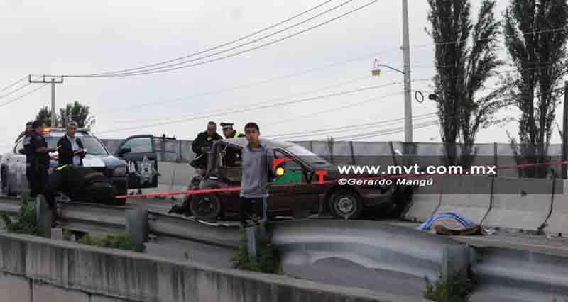 Saldo rojo tras accidente en Zinacantepec