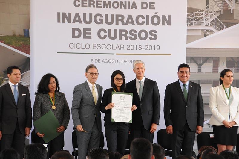 Inauguran ciclo escolar 2018-2019 de la UAEMéx
